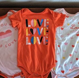 "Junk Food ""Love"" Onesies - Set of 3 for 18mo"